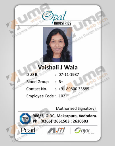 Company Identity Cards Design Jamnagar, Gujarat, India